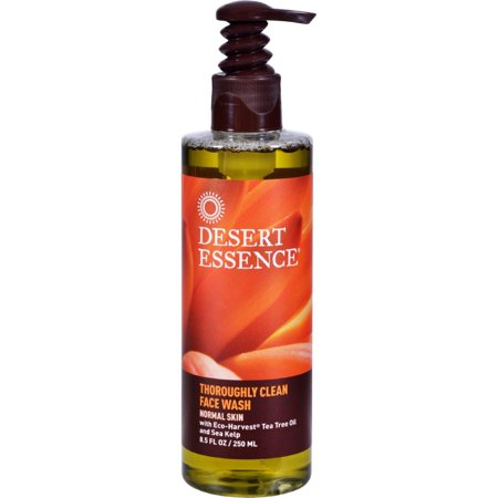 Desert Essence Thoroughly Clean Face Wash With Eco Harvest Tea Tree Oil And Sea Kelp - 8.5 Fl