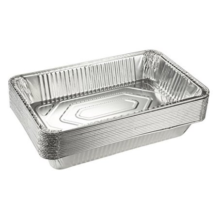 Foil Steam Table Pan (Aluminum Foil Pans - 15-Piece Full-Size Deep Disposable Steam Table Pans 20.5 x 3.3 x 13 Inches )