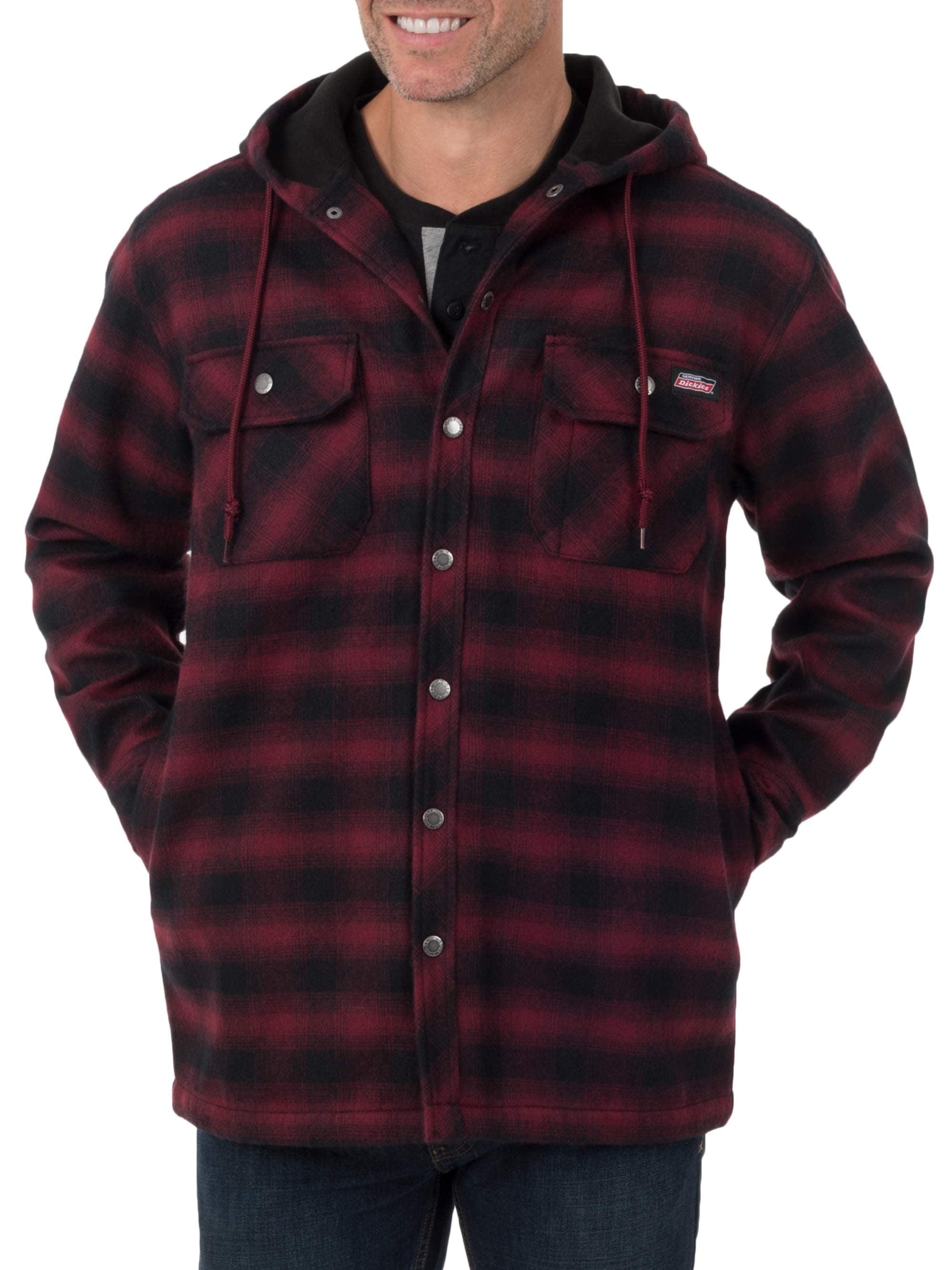 Men's Twill Polar Fleece Lined Shirt Jacket