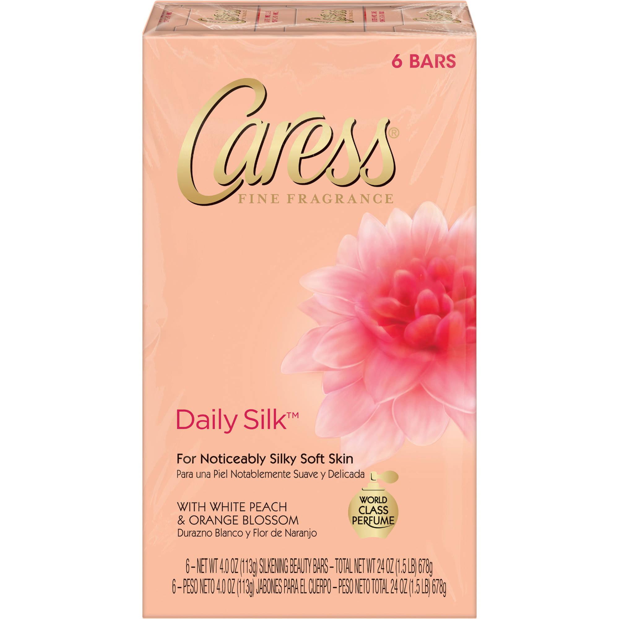 Caress Daily Silk Beauty Bar, 4 oz, 6 Bar