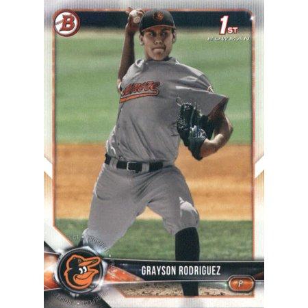 2018 Bowman Draft #BD-73 Grayson Rodriguez Baltimore Orioles Baseball Card (1992 Baseball Draft)