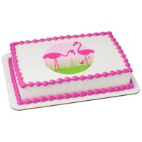 Pink Flamingos Edible Icing Image