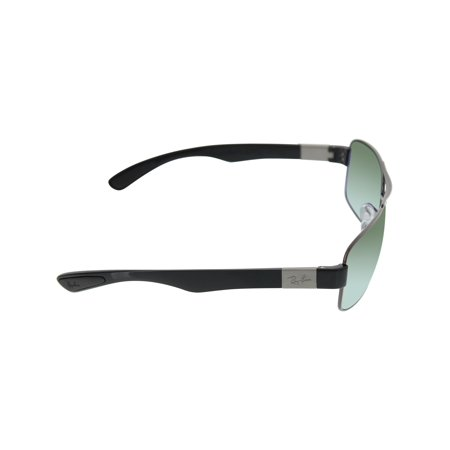 ea87163a97 Ray-Ban Men s Polarized RB3522 RB3522-004 9A-61 Silver Rectangle Sunglasses  ...