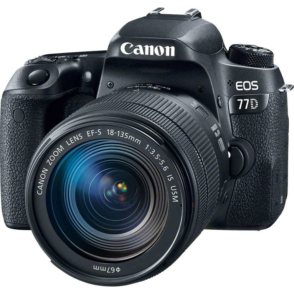 Canon EOS 77D DSLR Camera with 18-135mm USM Lens by Canon