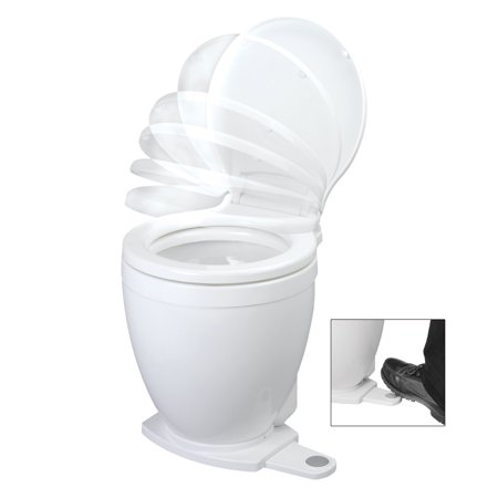 JABSCO LITE FLUSH 12V ELECTRIC TOILET WITH FOOTSWITCH