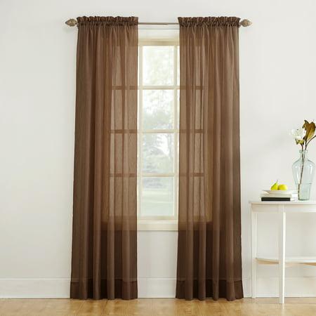 (No. 918 Jillian Crushed Voile Sheer Rod Pocket Curtain Panel)