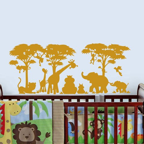 Zoomie Kids Arterberry African Safari Wall Decal