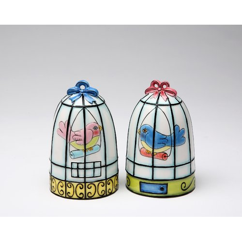 Cosmos Gifts Birdcage Salt and Pepper Set