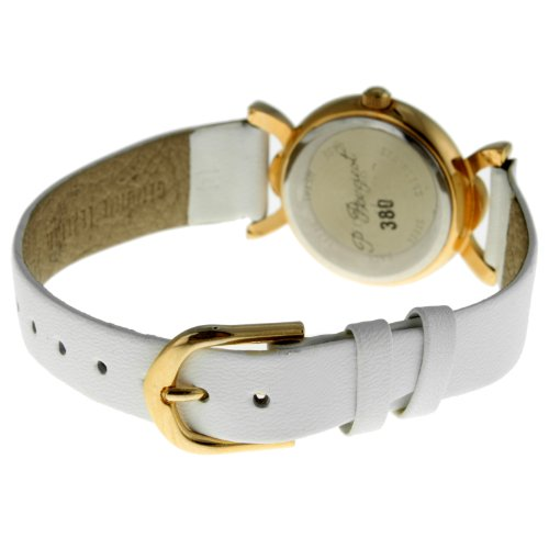 Vintage 380-12 Gold Bezel White Strap Watch