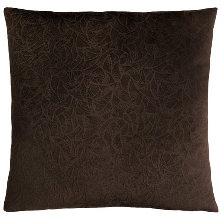 Dark Brown Throw Pillows.Monarch Floral Velvet Throw Pillow In Dark Brown