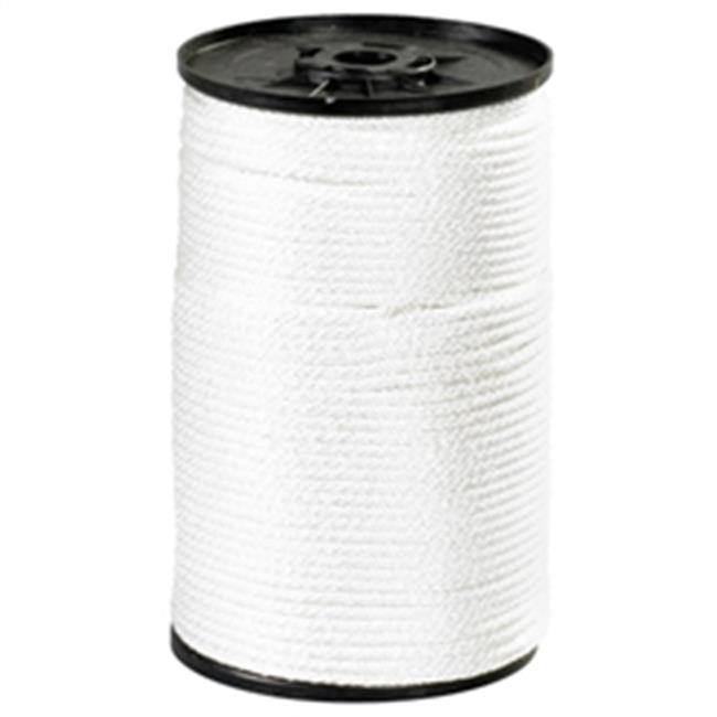 Box Partners TWR121 0.38 in. 2300 lbs White Solid Braided Nylon Rope - image 1 de 1