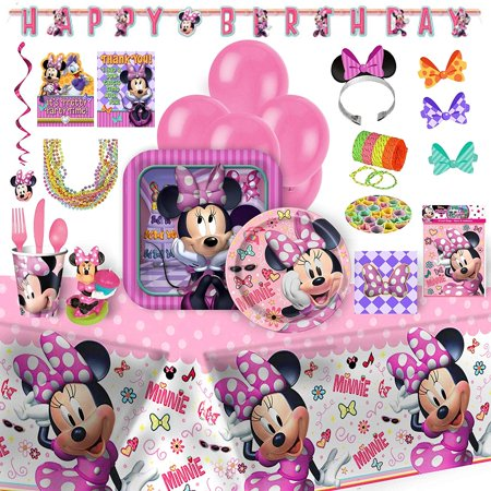 Minnie Mouse Birthday Party Supplies – 152 Piece Bundle](Minnie Mouse Table Cloths)