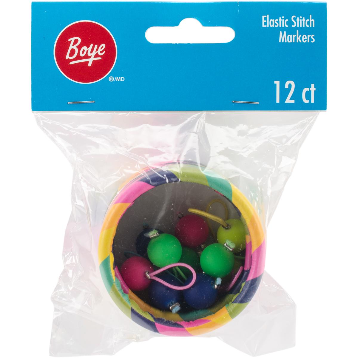 Boye Stitch Marker Elastic12/Pkg
