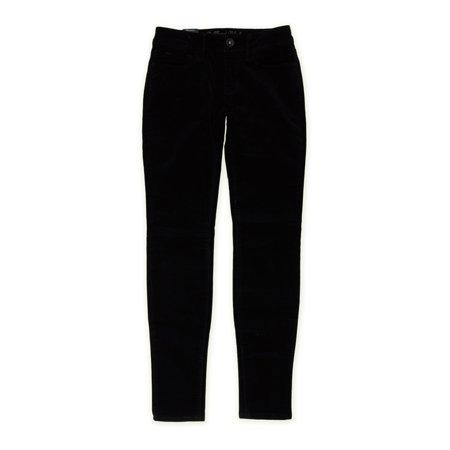 Bullhead Denim Co. Womens Premium Velveteen Skinny Fit Jeans, Black, 0