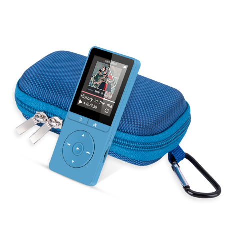 AGPTEK A20 8GB mp3 player, Lossless Sound Music Player with Portable Carrying Case, Blue