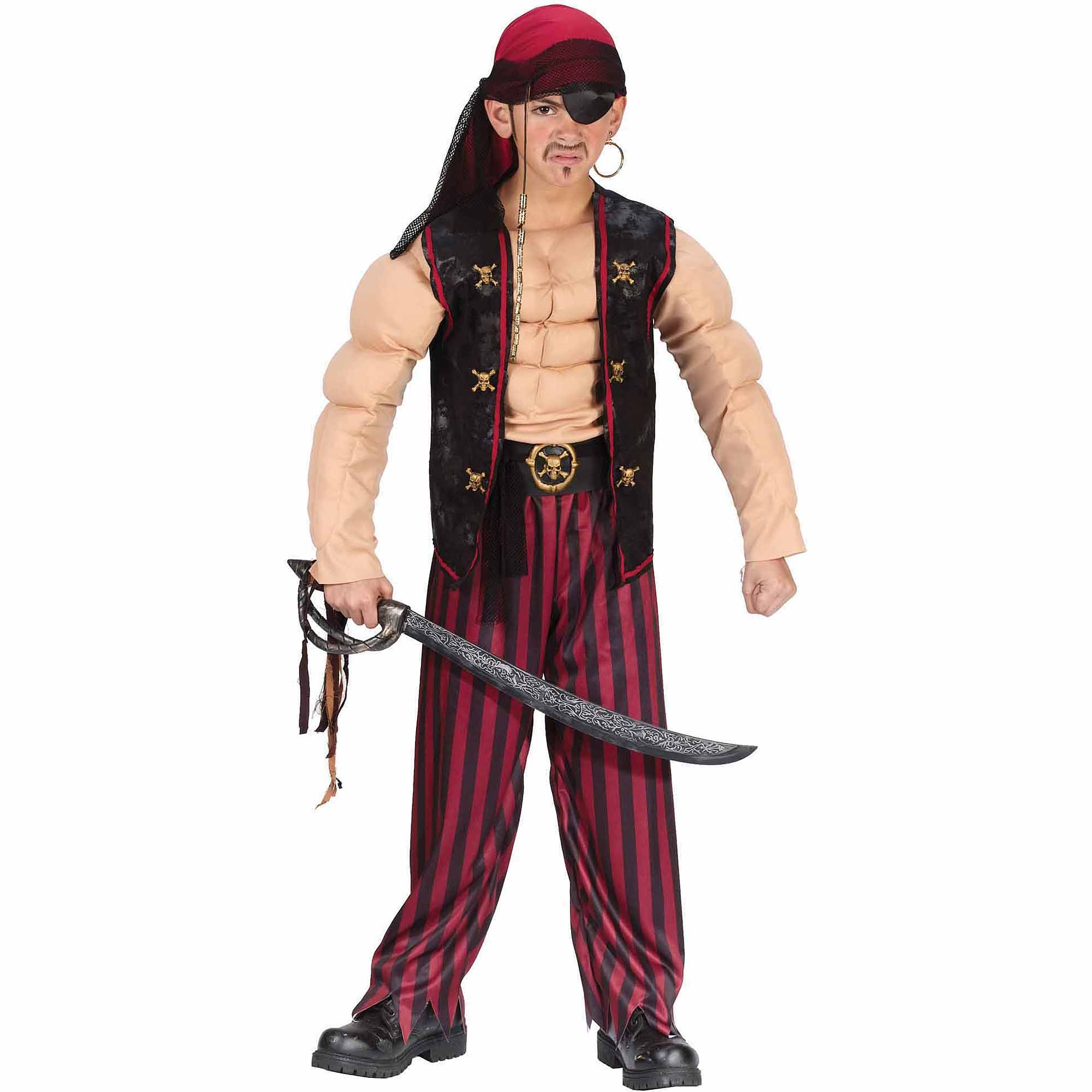Pirate Muscle Child Halloween Costume