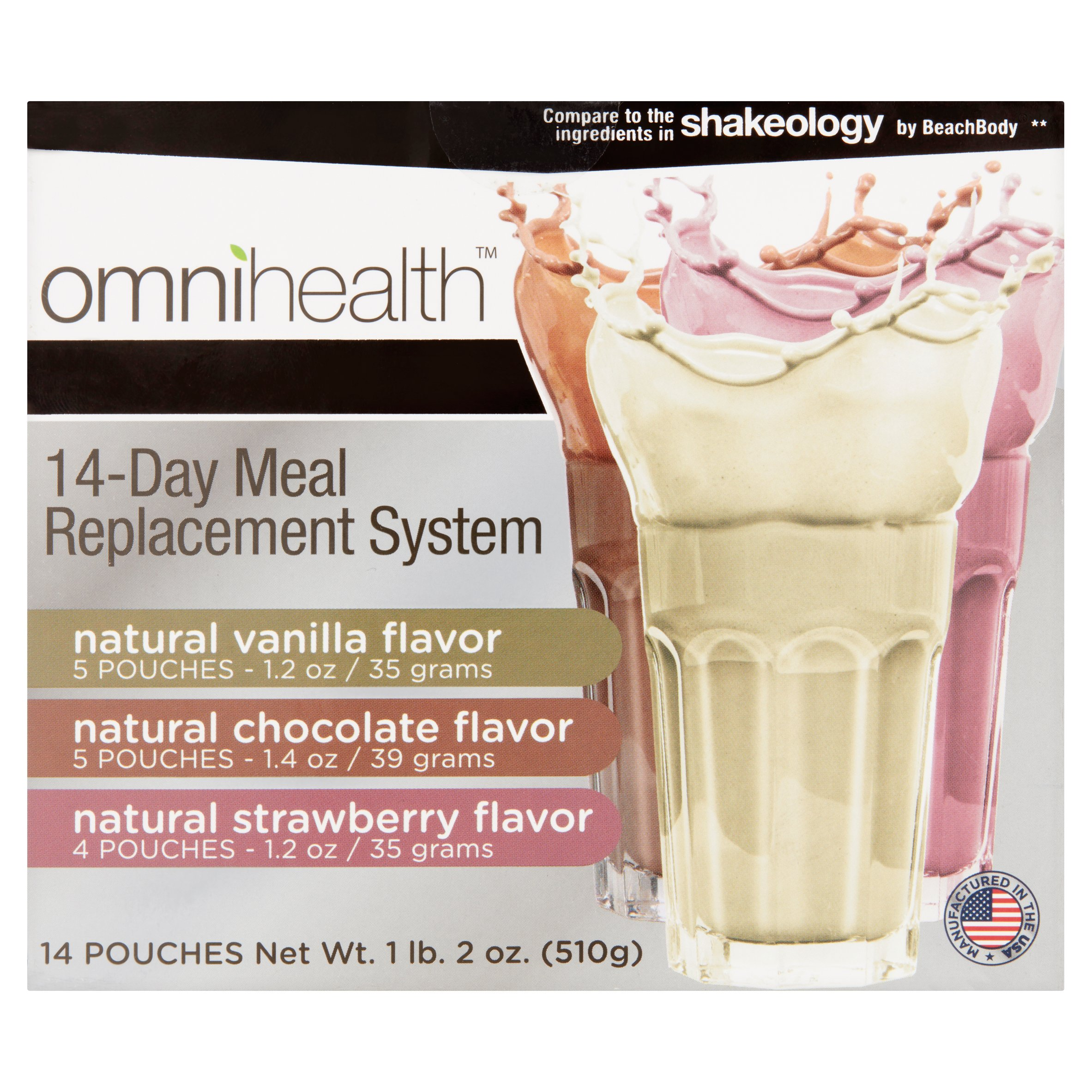 Omnihealth 14 Day Meal Replacement System, 14 count, 1 lb 2 oz