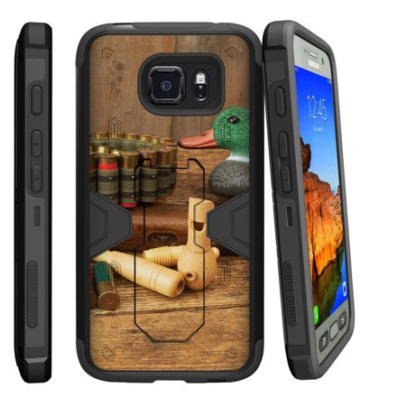 Samsung Galaxy [ S7-ACTIVE model] G891A Dual Layer Shock Resistant MAX DEFENSE Heavy Duty Case with Built In Kickstand - Duck Call