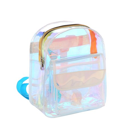 Pvc Fashion Bag - Clear PVC Backpack Fashion Bag Aqua Blue