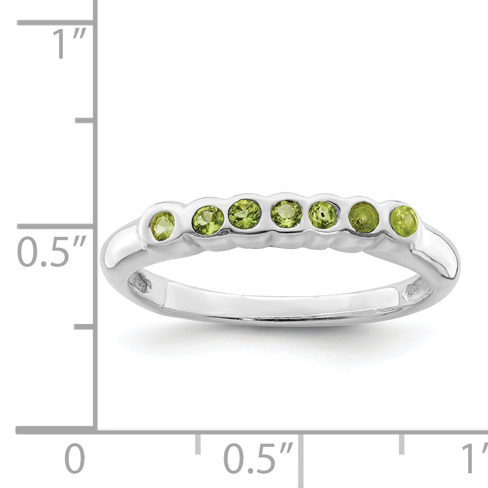 925 Sterling Silver Green Peridot Band Ring Size 7.00 Stone Gemstone Fine Jewelry Gifts For Women For Her - image 1 de 2