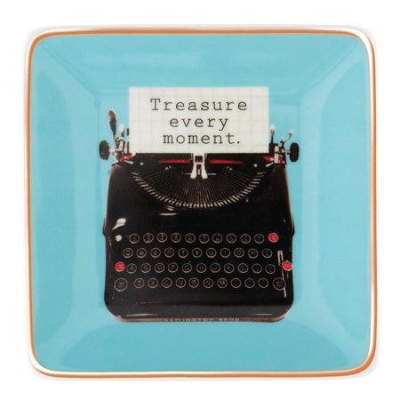 Porcelain Vintage Necklace - Vintage Square Porcelain Tray