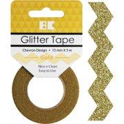 Best Creation Designer Glitter Tape 15mmx5m-gold Chevron
