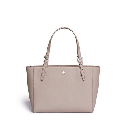 c598eef0cd65 NEW TORY BURCH LEATHER EMERSON YORK SMALL BUCKLE TOTE GRAY HANDBAG SHOULDER  BAG - Walmart.com