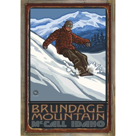 "Brundage McCall ID Rustic Metal Print on Reclaimed Barn Wood by Paul A. Lanquist (24"" x 36"")"