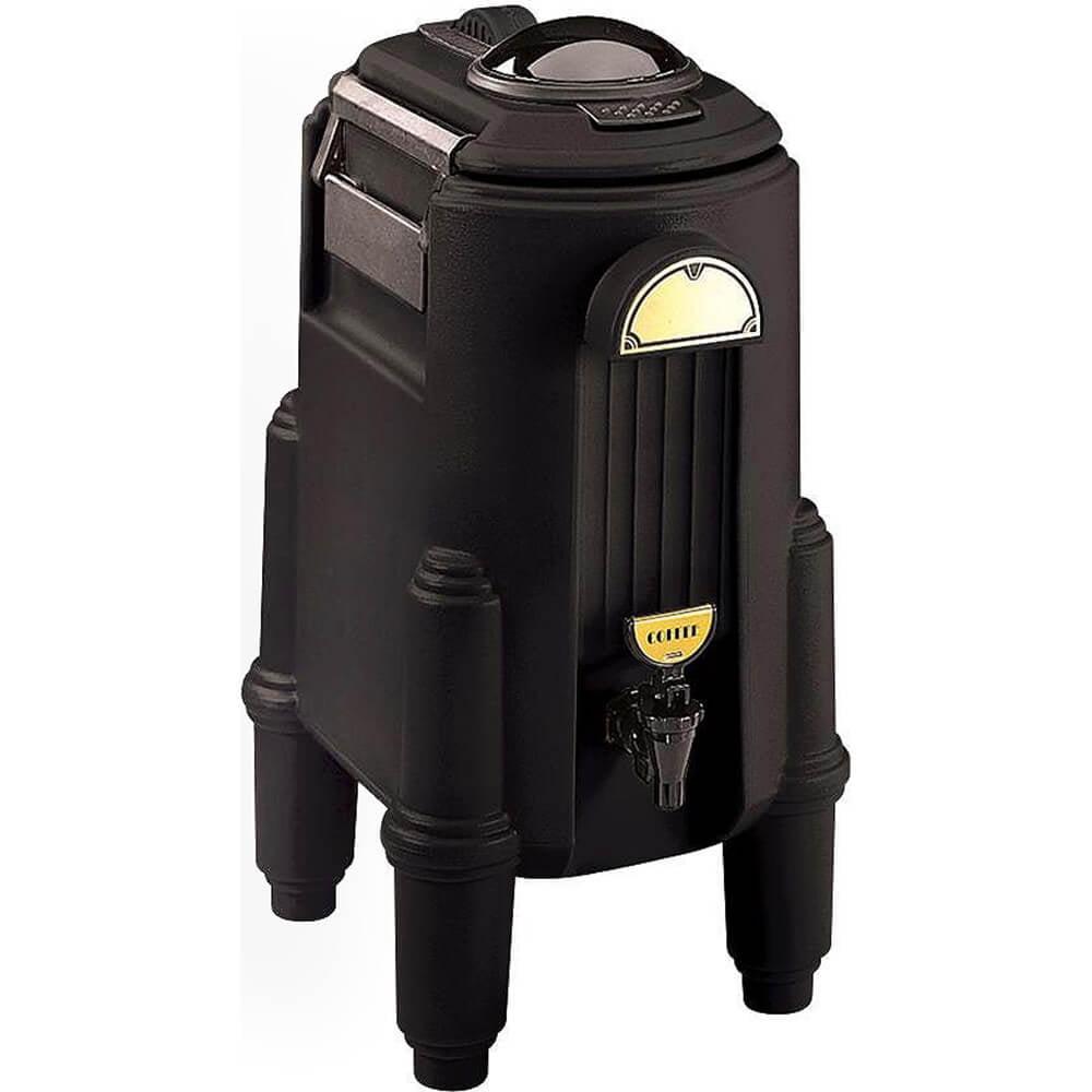 Cambro 5 Gal. Hot Beverage Dispenser, Coffee / Tea, Black, CSR5-110