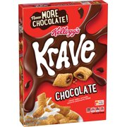 Kellogg's Krave Breakfast Cereal, Chocolate, 11.4 Oz