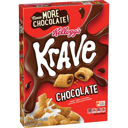 Kellogg's Krave Chocolate Cereal, 11.4 OZ