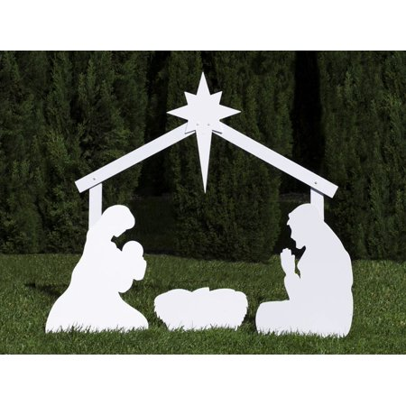 Outdoor Nativity Store Silhouette Outdoor Nativity Set - Holy Family Yard Scene (Standard Size)