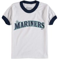 Seattle Mariners Stitches Youth Ringer T-Shirt - White/Navy