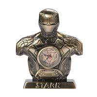 Marvel Avengers Age of Ultron Bronze Iron Man Mark 43 Desk Clock