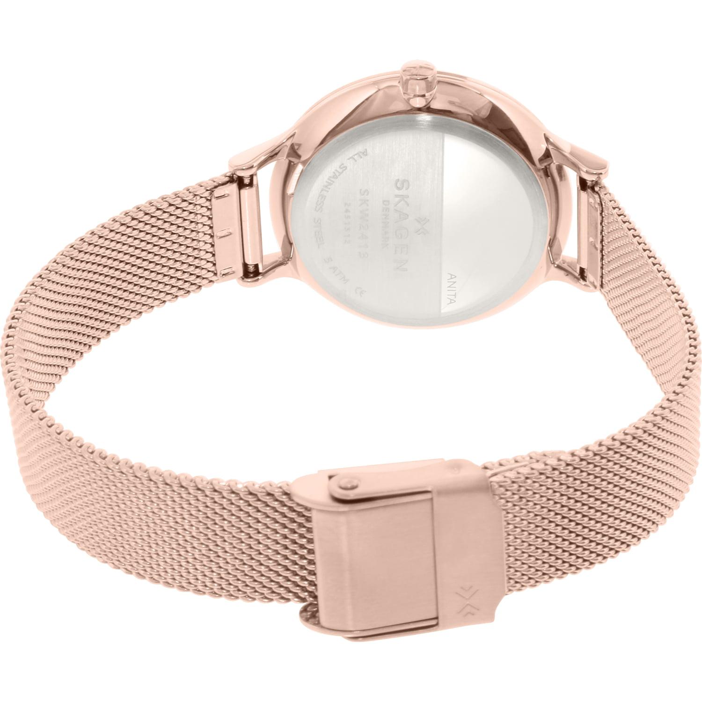 d627dbc6900 Skagen - Women s Anita SKW2413 Rose Gold Stainless-Steel Quartz Fashion  Watch - Walmart.com