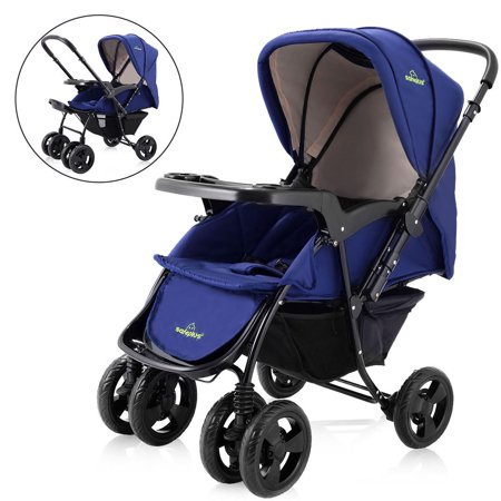 Two Way Foldable Baby Kids Travel Stroller Newborn Infant Pushchair Buggy