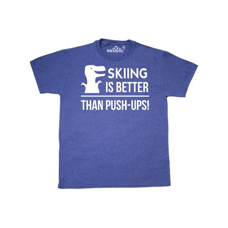 Skiing Funny T-Rex Quote T-Shirt