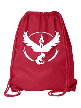 Pokemon Go Gym Team Valor Red Cinch Bag Drawstring Bag Backpack