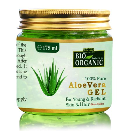 Indus Valley Bio Organic Non-Toxic Aloe Vera Gel for Acne, Scars, Glowing & Radiant Skin