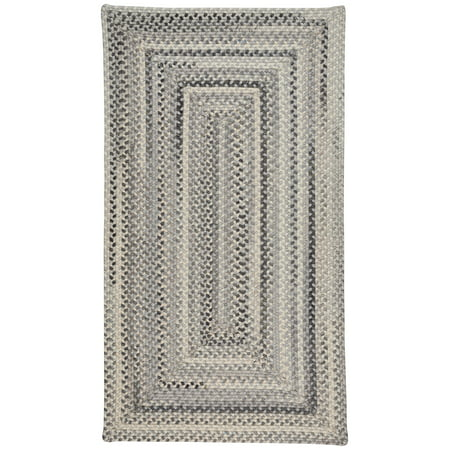capel rugs tooele braided concentric rectangle area rug grey 27 x 48