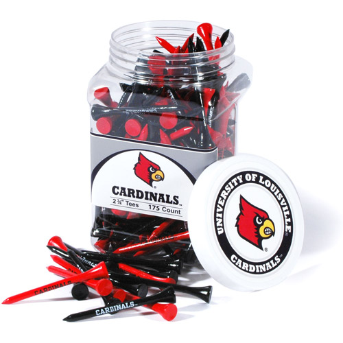 Team Golf NCAA Louisville Jar Of 175 Golf Tees