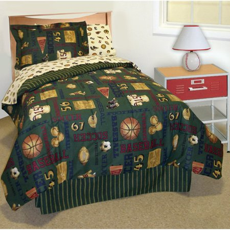 In Style Vintage Sports Bed In A Bag Bedding Set Walmart Com