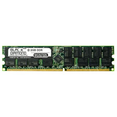 2GB Memory RAM for Gigabyte GS-SR Series GS-SR275 Rackmount Server 184pin PC3200 400MHz DDR RDIMM Black Diamond Memory Module Upgrade
