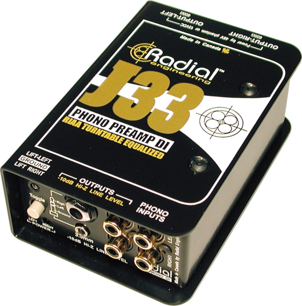 Radial J33 Turntable DI Direct Box Phono Preamp by Radial Engineering