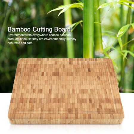 WALFRONT Bamboo Cutting Board Antimicrobial Wood End Grain Chopping Boards with Juice Groove for Cutting Vegetables, Meat, Fruits and Cheese 100% Bamboo (Best Wood For End Grain Cutting Board)