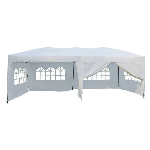 10' x 20' Ez Pop Up 4 Walls Canopy Party Tent Heavy Duty, White 6051 by Newacme LLC