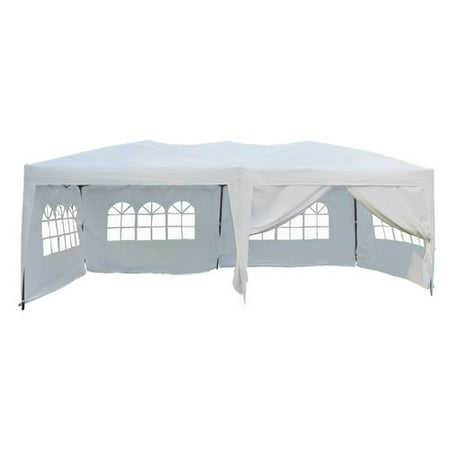 Made Ez Software - 10' x 20' Ez Pop Up 4 Walls Canopy Party Tent Heavy Duty, White 6051