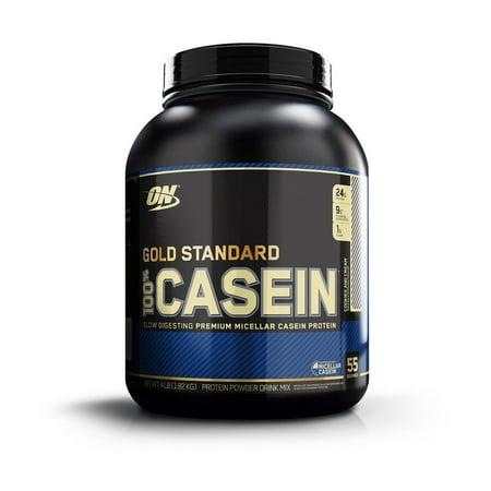 Optimum Nutrition Gold Standard 100% Casein Protein Powder, Cookies & Cream, 24g Protein, 4 Lb