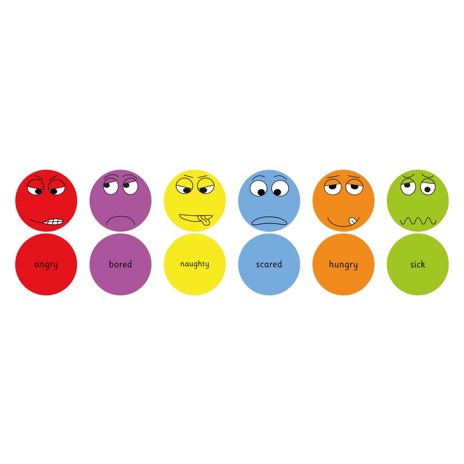 Kalokids English Emotions Floor Cushions - Pack 1