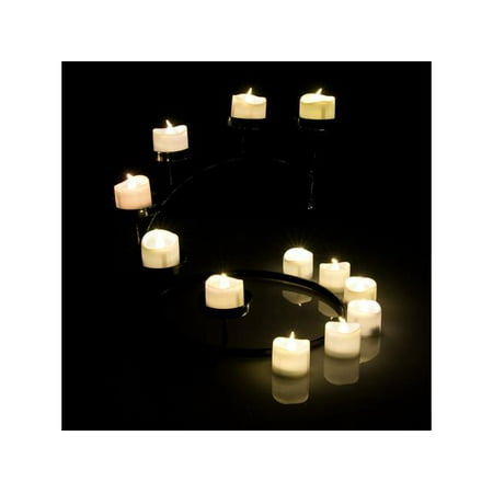 Tea Light Candles Warm White, AGPtek 6 PCS LED Flameless Battery Operated Tea light Tealight Candles with Batteries](Battery Operated Tea Lights Bulk)